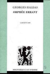 Orphee Errant - Couverture - Format classique