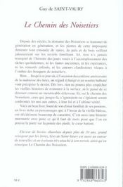 Le Chemin Des Noisetiers - 4ème de couverture - Format classique