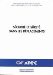 Securite et surete dans les deplacements - Couverture - Format classique
