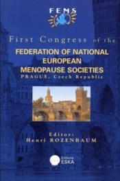 Fede. Of National Europ. Menopause Stes - Couverture - Format classique