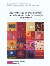 Apprentissage Et Enseignement Des Sciences Et De La Technique Au Primaire - Intérieur - Format classique
