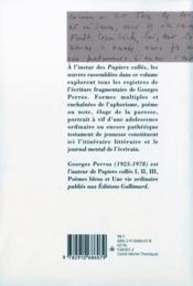 L'Occupation Et Autres Textes - 4ème de couverture - Format classique