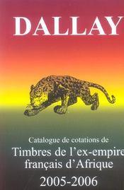 Catalogue Dallay Timbres Ex Empire Fr. - Intérieur - Format classique