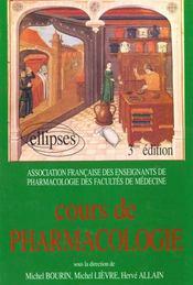 Cours De Pharmacologie 3e Edition - Intérieur - Format classique