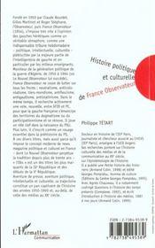 Histoire Politique Et Culturelle De France ; Observateur - 4ème de couverture - Format classique