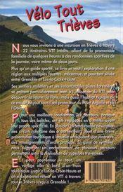 Vélo tout Trièves - 4ème de couverture - Format classique