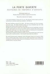 Anthologie sur les fantomes d'enfants - 4ème de couverture - Format classique