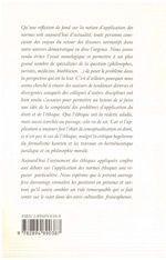 Vie Des Normes Et L'Esprit Des Lois (La) - 4ème de couverture - Format classique