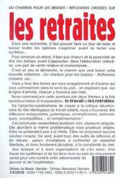 Reflexions Croisees Sur... Les Retraites - 4ème de couverture - Format classique