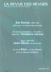 Revue Des Revues N.37 - Intérieur - Format classique