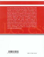 L'Economie Britannique Depuis 1945 Son Role Et Son Avenir Dans Le Cadre Europeen - 4ème de couverture - Format classique