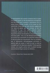 Elements De Sciences Humaines - 4ème de couverture - Format classique