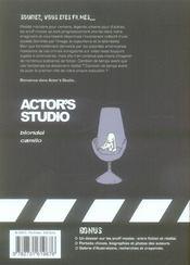 Actor's studio t.1 ; rose rouge - 4ème de couverture - Format classique