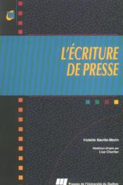 L'écriture de presse - Couverture - Format classique