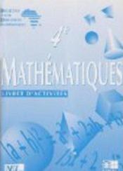 Mathematiques ciam 4e / livret d'activites - Couverture - Format classique