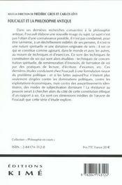 Foucault Et La Philosophie Antique - 4ème de couverture - Format classique
