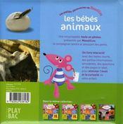 Les bébés animaux ; moustilou découvertes - 4ème de couverture - Format classique