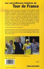 Les Merveilleuses Histoires Du Tour De France - 4ème de couverture - Format classique