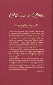 L'Abecedaire De L'Ange - 4ème de couverture - Format classique
