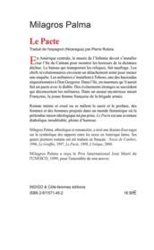 Le pacte, roman - 4ème de couverture - Format classique