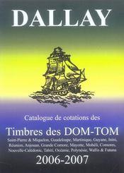 Catalogue dallay ; timbres dom-tom 2006-2007 - Intérieur - Format classique