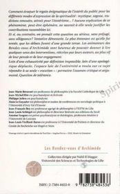 Spiritualites Du Temps Present ; Fragments D'Une Analyse, Jalons Pour Une Recherche - 4ème de couverture - Format classique