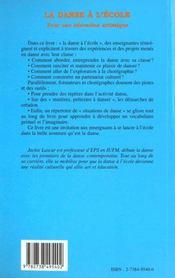 La danse à l'école ; pour une éducation artistique - 4ème de couverture - Format classique