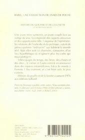 Histoire du gouffre et de la lunette - 4ème de couverture - Format classique