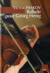 Ballade pour Georg Henig - Intérieur - Format classique