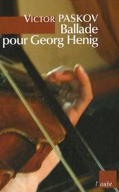 Ballade pour Georg Henig - Couverture - Format classique