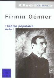Theatre Populaire Acte 1 - Intérieur - Format classique