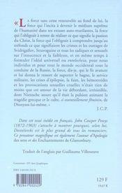 Dostoievski - 4ème de couverture - Format classique