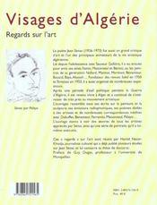 Visages d'algerie ; ecrits sur l'art - 4ème de couverture - Format classique