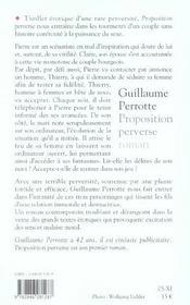 Proposition perverse - 4ème de couverture - Format classique