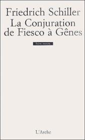 La conjuration de Fiesco à Gênes - Couverture - Format classique