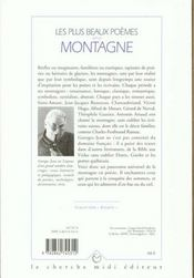 Les plus beaux poèmes sur la montagne ; anthologie - 4ème de couverture - Format classique