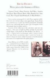 Meres juives des hommes celebres ; celles qui firent le xx siecle - 4ème de couverture - Format classique