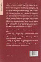 Les defis de la technoscience - 4ème de couverture - Format classique