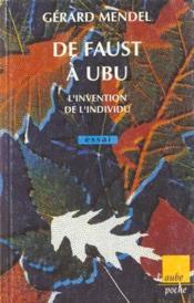 De Faust A Ubu - Couverture - Format classique