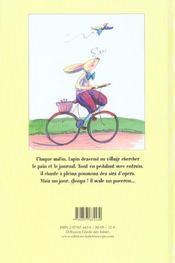 Le lapin lyrique - 4ème de couverture - Format classique