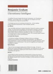 L'investisseur intelligent - 4ème de couverture - Format classique