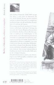 Barbey d'Aurevilly ; solitaire et singulier - 4ème de couverture - Format classique