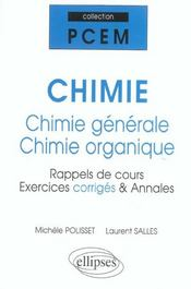 Chimie Generale Chimie Organique Rappels De Cours Exercices Corriges & Annales - Intérieur - Format classique