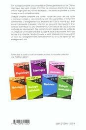 Chimie Generale Chimie Organique Rappels De Cours Exercices Corriges & Annales - 4ème de couverture - Format classique