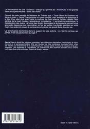 Cours De Chiromancie - 4ème de couverture - Format classique