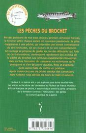 Les Peches Du Brochet - 4ème de couverture - Format classique