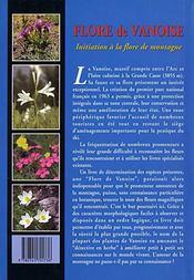 Flore De Vanoise : Initiation A La Flore De Montagne - 4ème de couverture - Format classique
