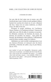 L'homme de sable babel 468 - 4ème de couverture - Format classique