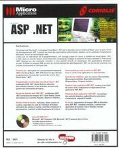 Asp.Net - 4ème de couverture - Format classique