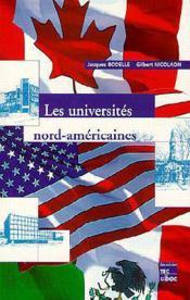 Les universites nordamericaines ; 2e edition - Couverture - Format classique